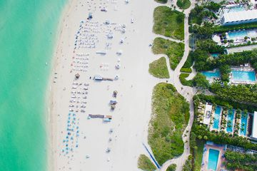 Aerial shot of Miami beach