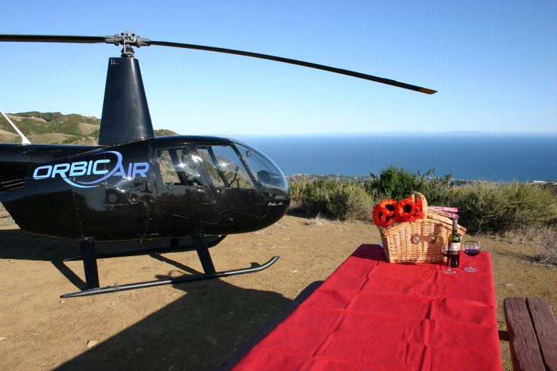 A waterfront picnic by helicopter with Orbic Air