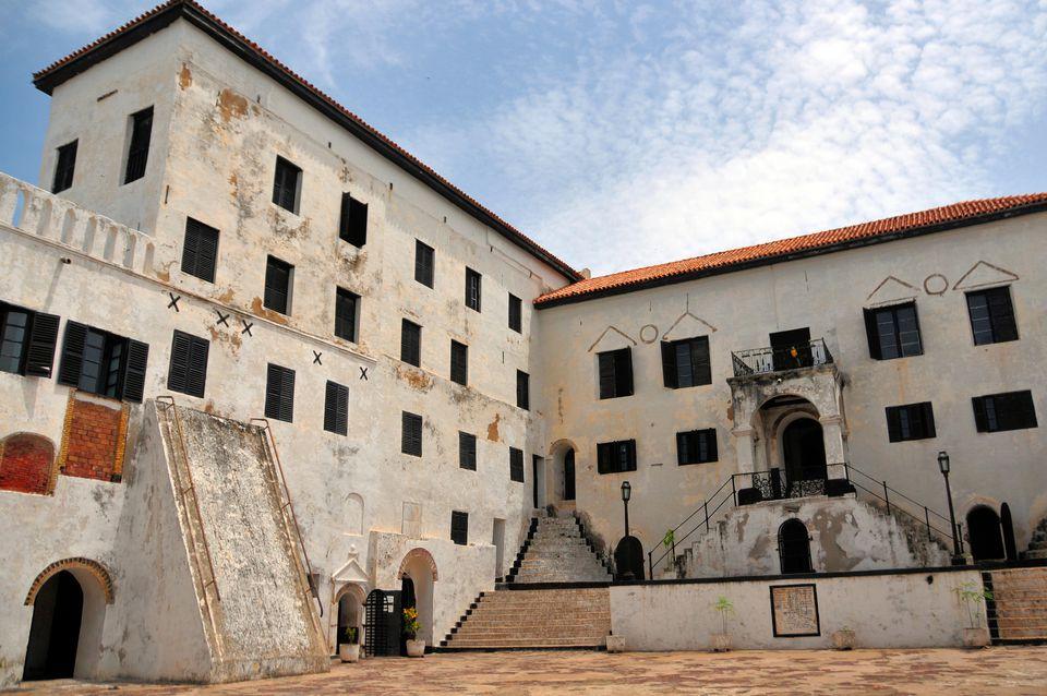 Courtyard view of Elmina Castle, Ghana