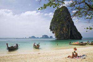 The beach in Railay, a top destination in Thailand