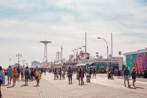 Coney Island and the boardwalk