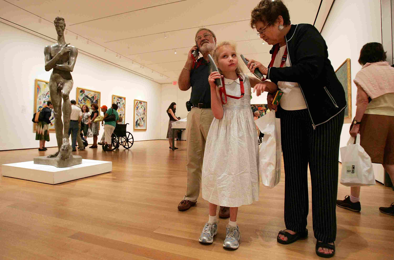 Museum Of Modern Art Hosts Children And Grandparents