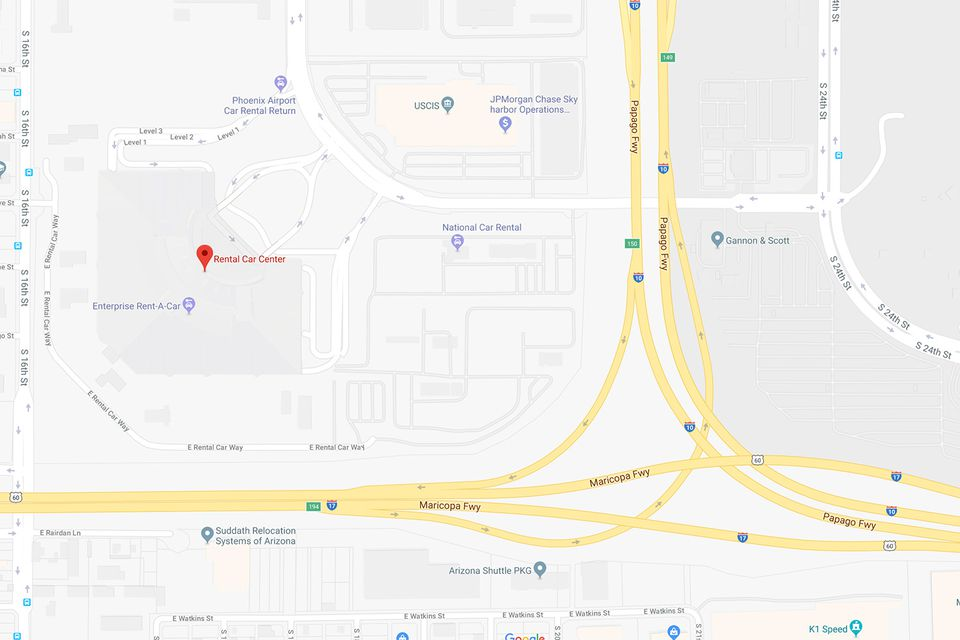 Phoenix Airport Rental Car Center Map and Directions on foreclosure map, charter map, rehab map, golf map, exchange map, performance map, information map, marine map, government map, contact us map, wedding map,