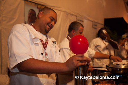 Mojito in a balloon at LA Food and Wine