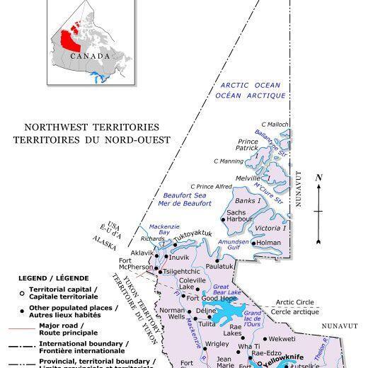Mapa de los Territorios del Noroeste