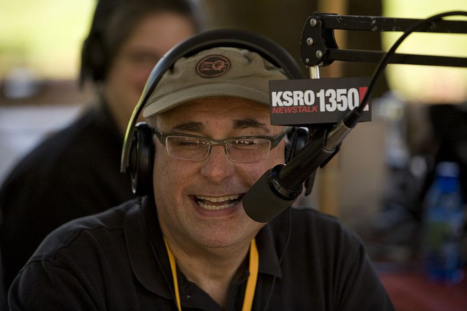 KSRO radio personality Steve Garner does his Good Food Hour show at the Sonoma County Grape Harvest
