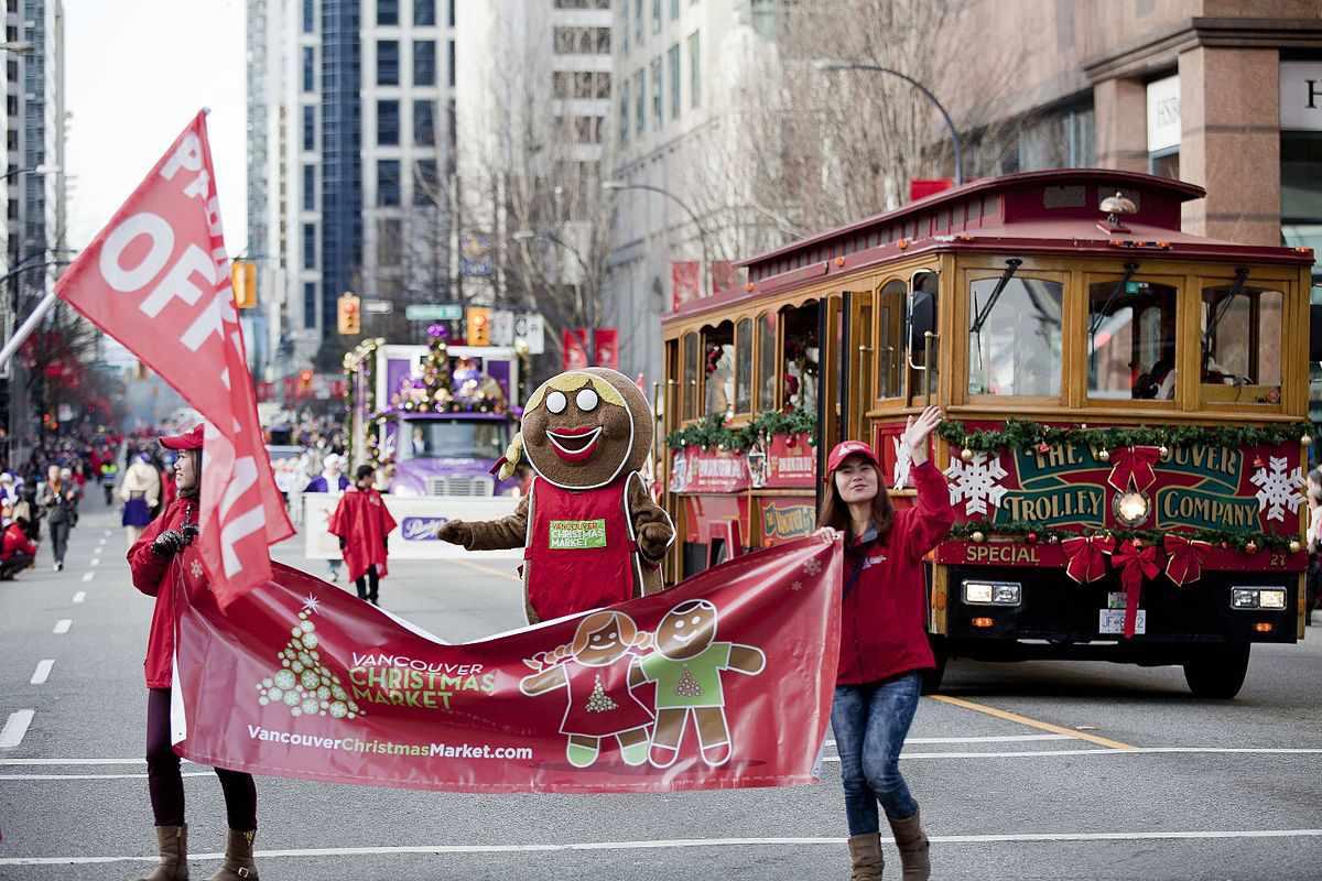 Parade participants at Rogers Santa Claus Parade, Vancouver