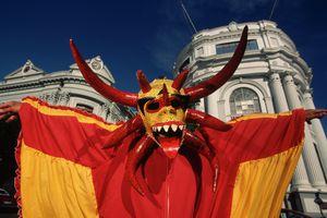 Wearing Mask at Carnival