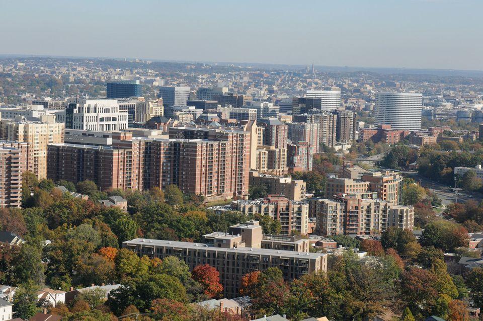 Aerial view of Arlington