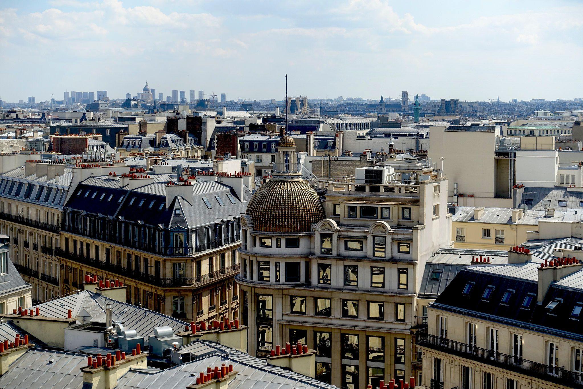 Las vistas panorámicas de Printemps en París