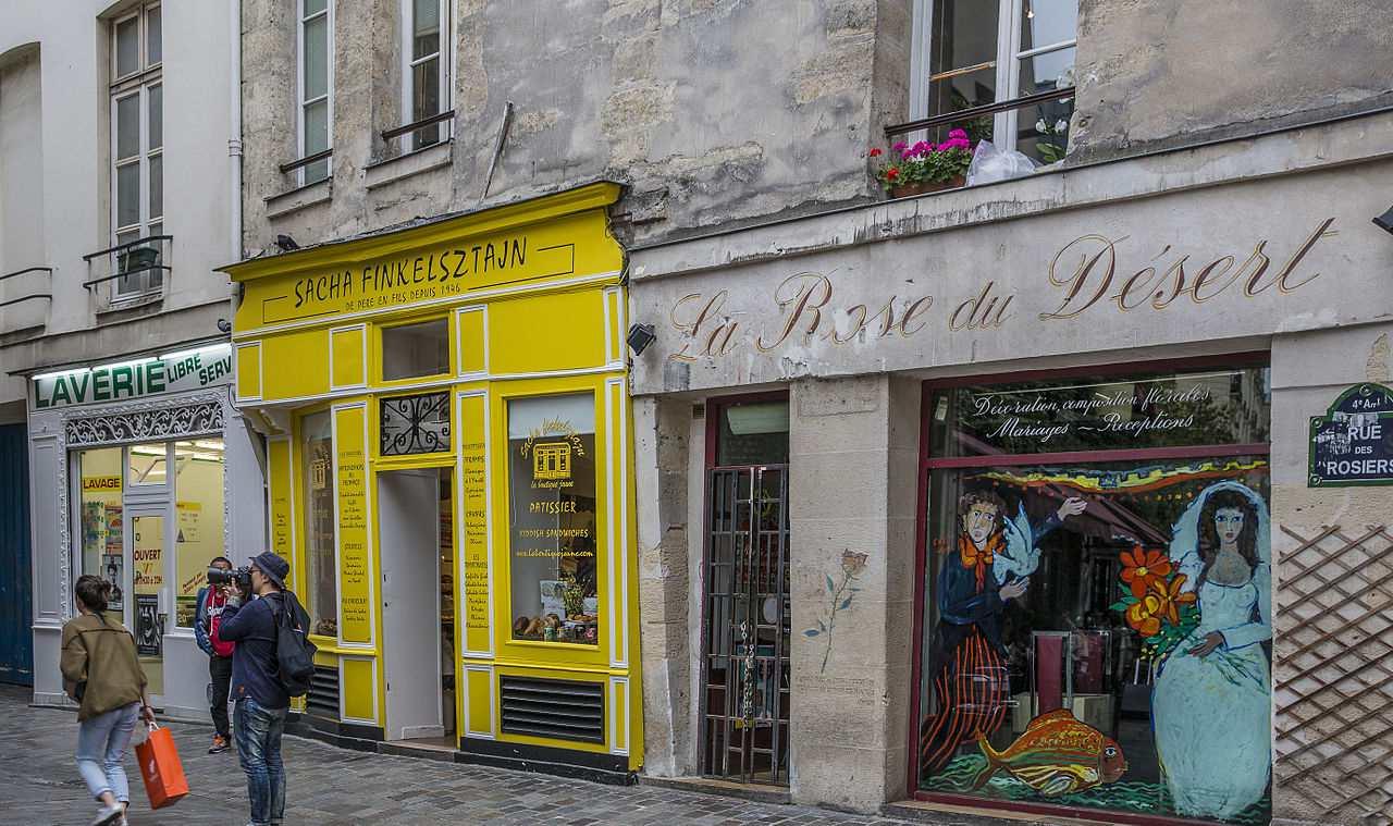 Rue des Rosiers, Paris, France.