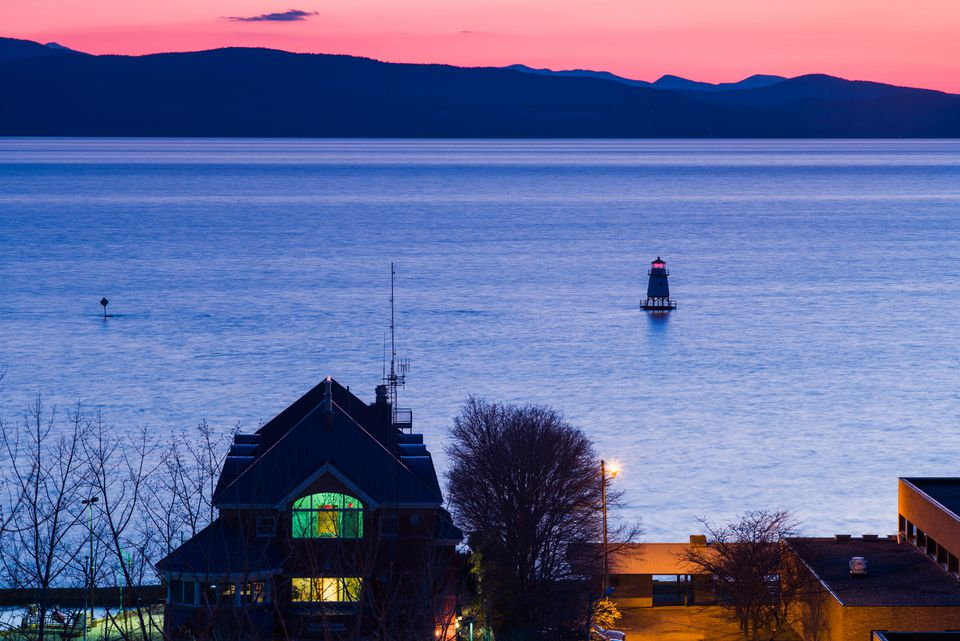 Burlington Vermont at Sunset