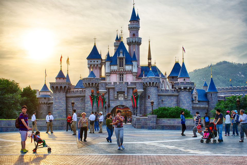 Sleeping Beauty's Castle Hong Kong Disneyland
