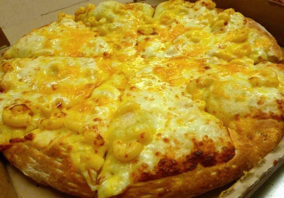 Pizza de macarrones con queso de Pizza Shuttle