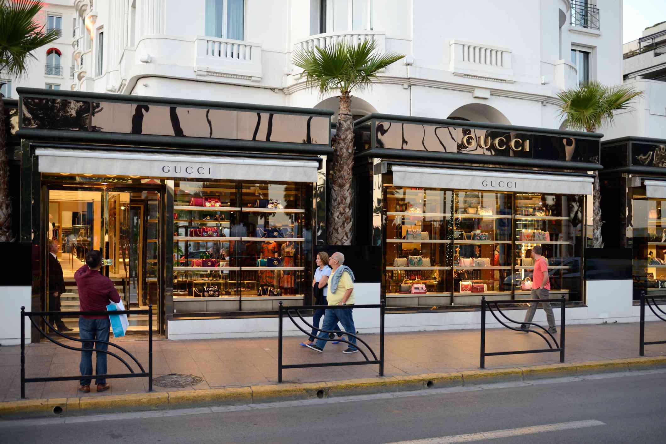 Shops on La Croisette, Cannes, France