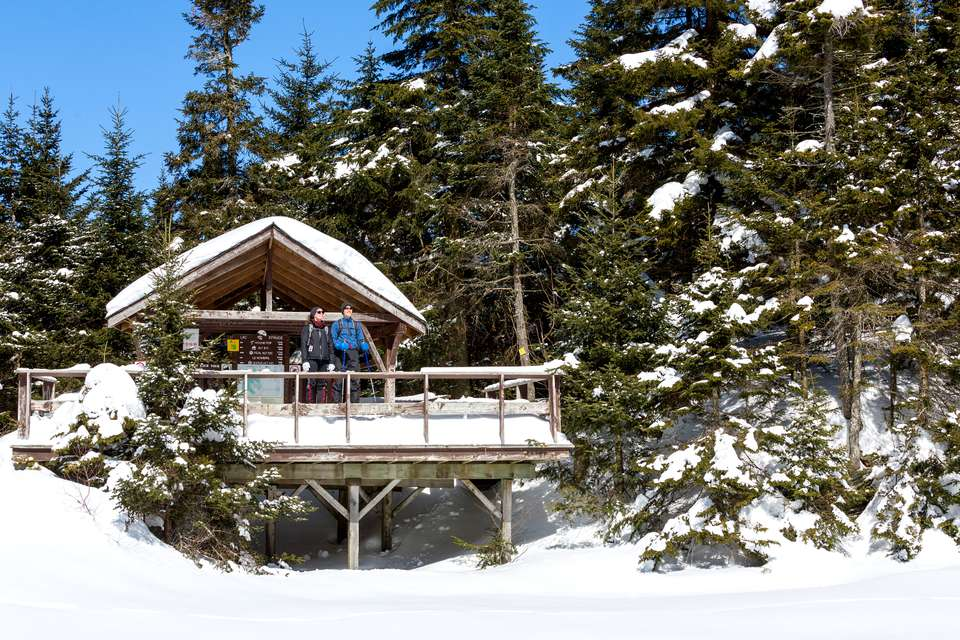 Top winter hikes near Montreal include Mont Sutton.