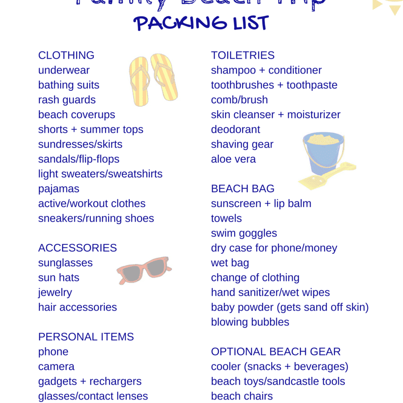 83e59a4046 Free Packing Lists for All Kinds of Family Vacations