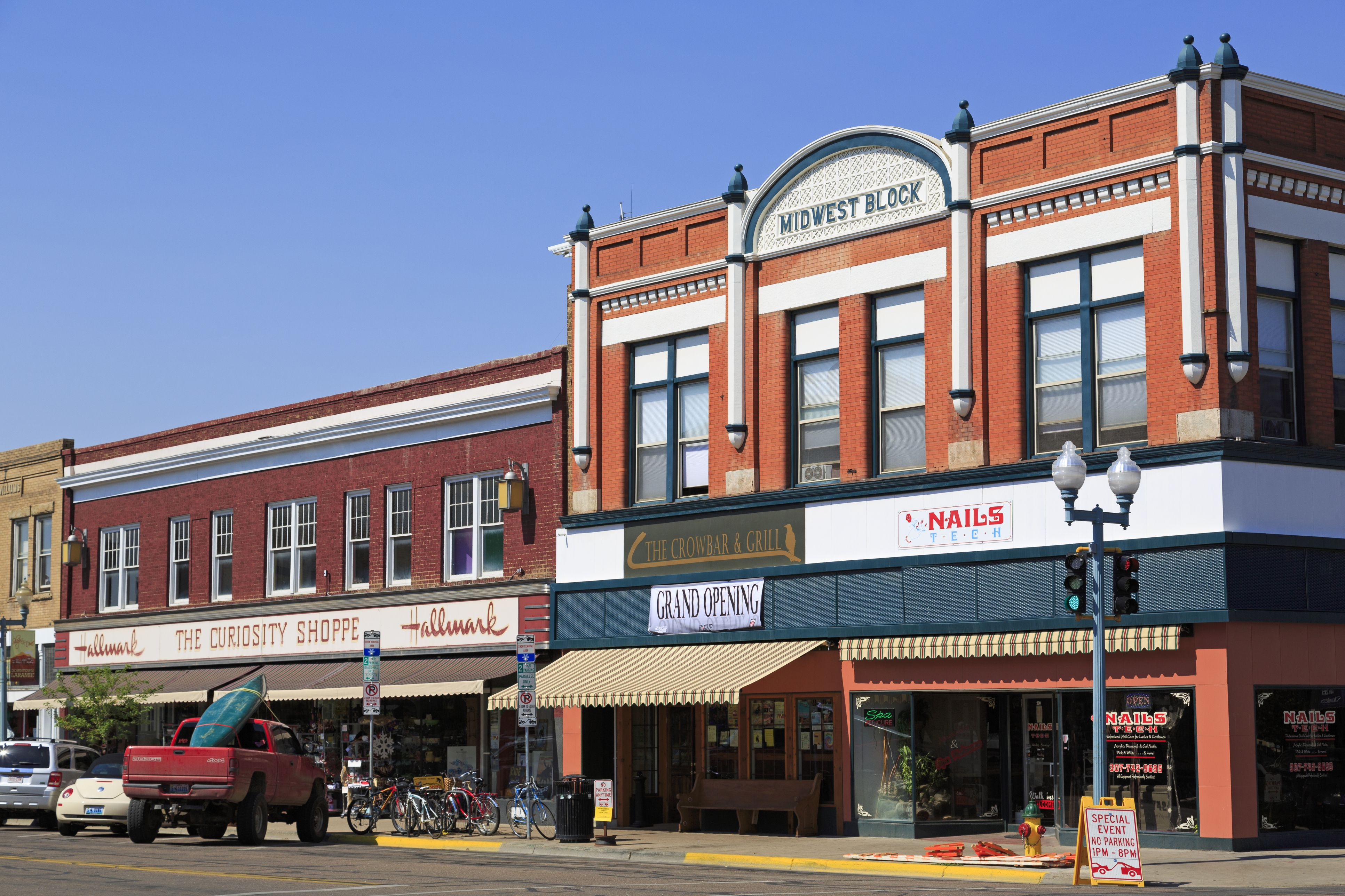 Downtown stores in Laramie, WY