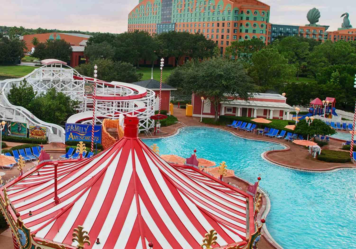 Luna Park Pool at Disney's BoardWalk Inn