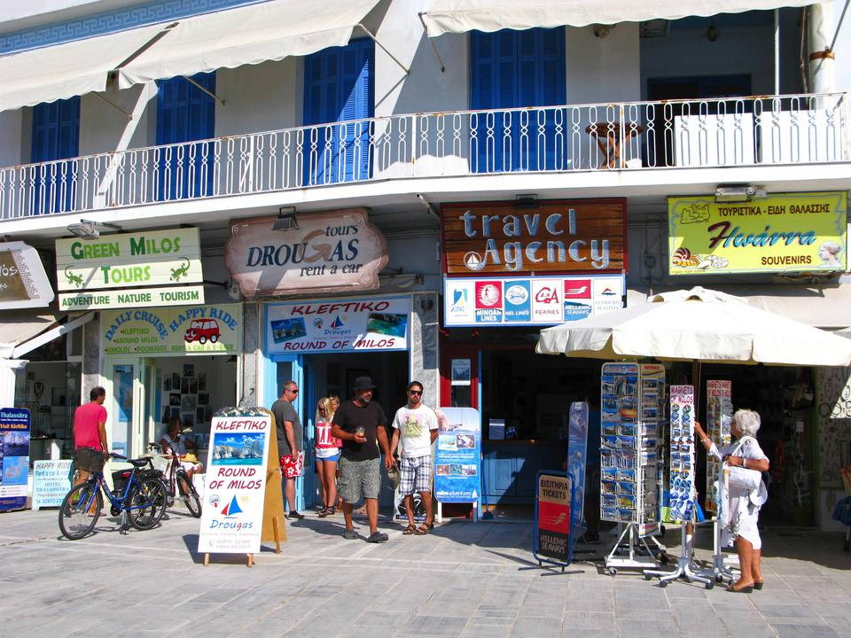 Travel agencies on Milos island