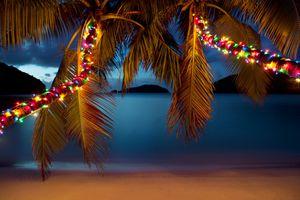 Christmas at the Caribbean beach