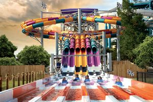 Wahoo racer slide at Six Flags White Water Atlanta