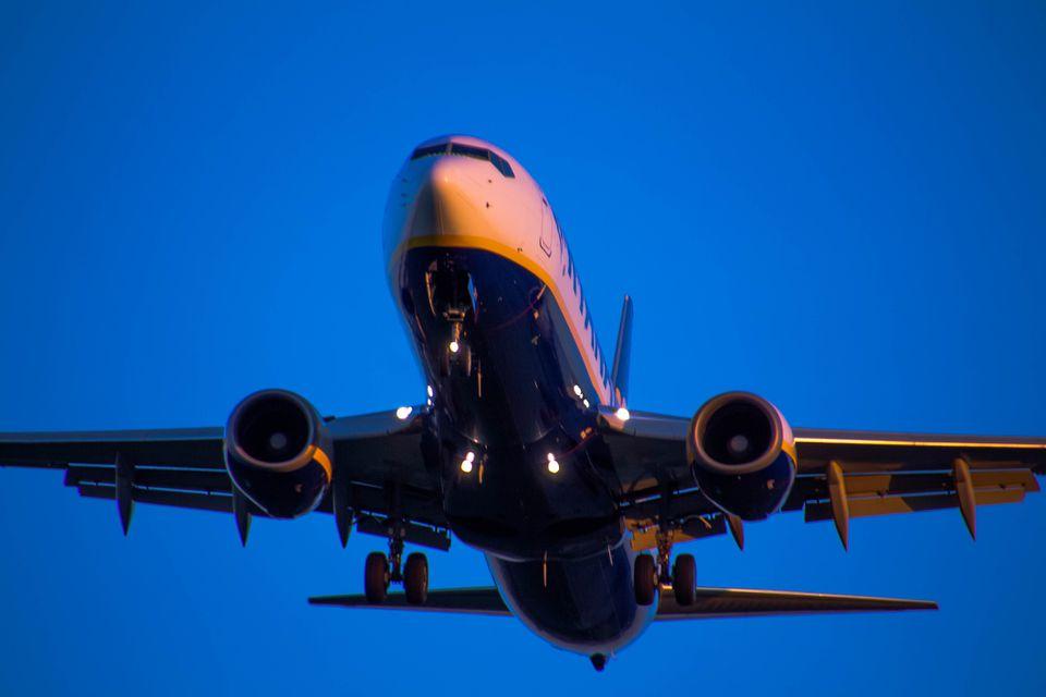 Ryanair airplane taking off