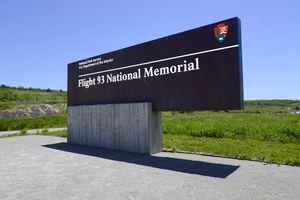 Flight 93 National Memorial sign