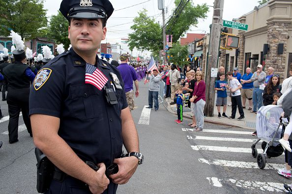 Memorial Day Parade In Staten Island, New York