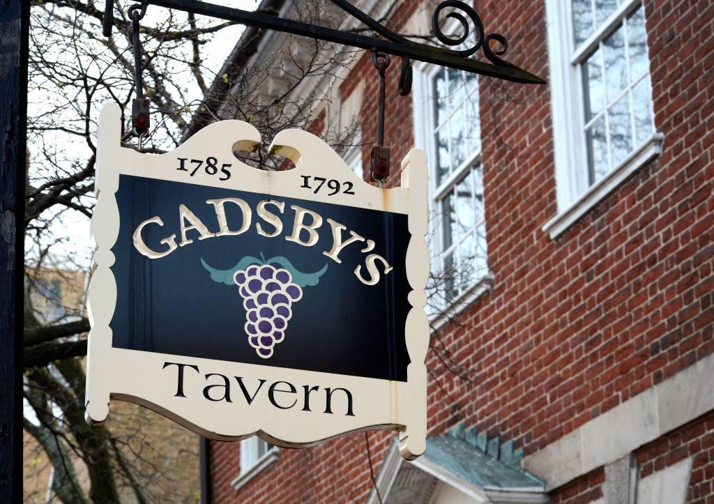 Gadsby's Tavern sign