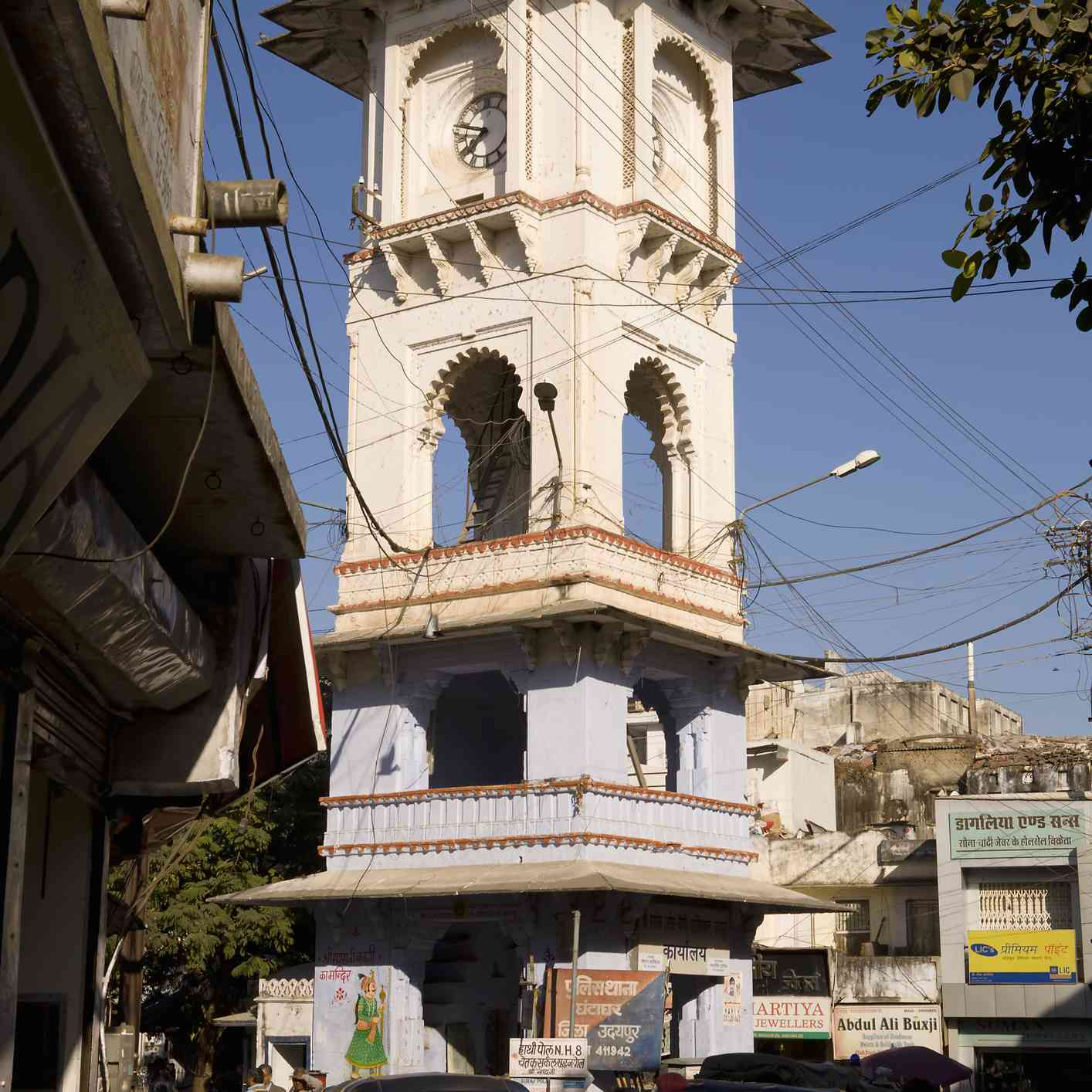 The Clock Tower area, Udaipur.