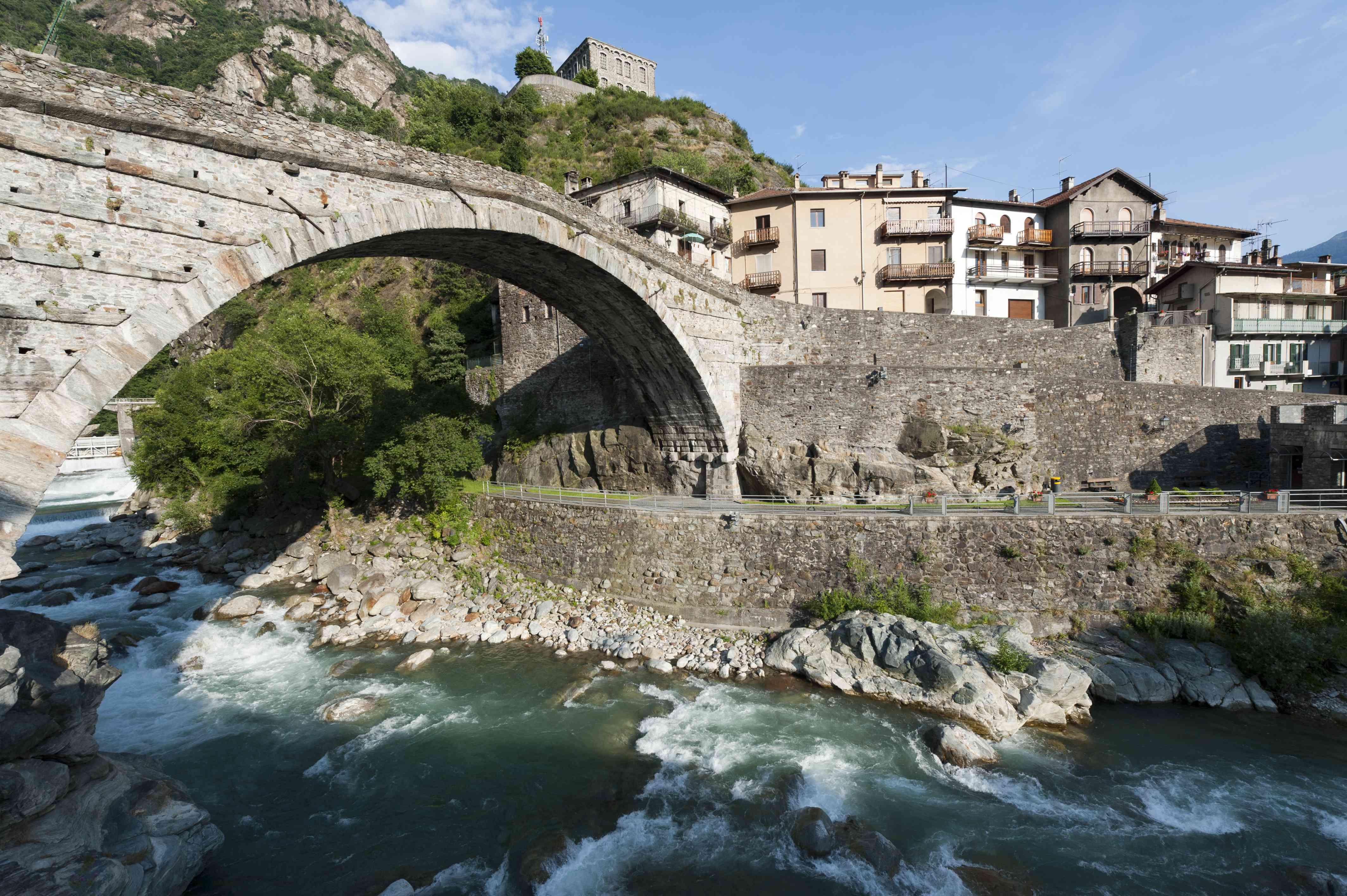 Roman bridge in Saint-Martin (Aosta, Italia)