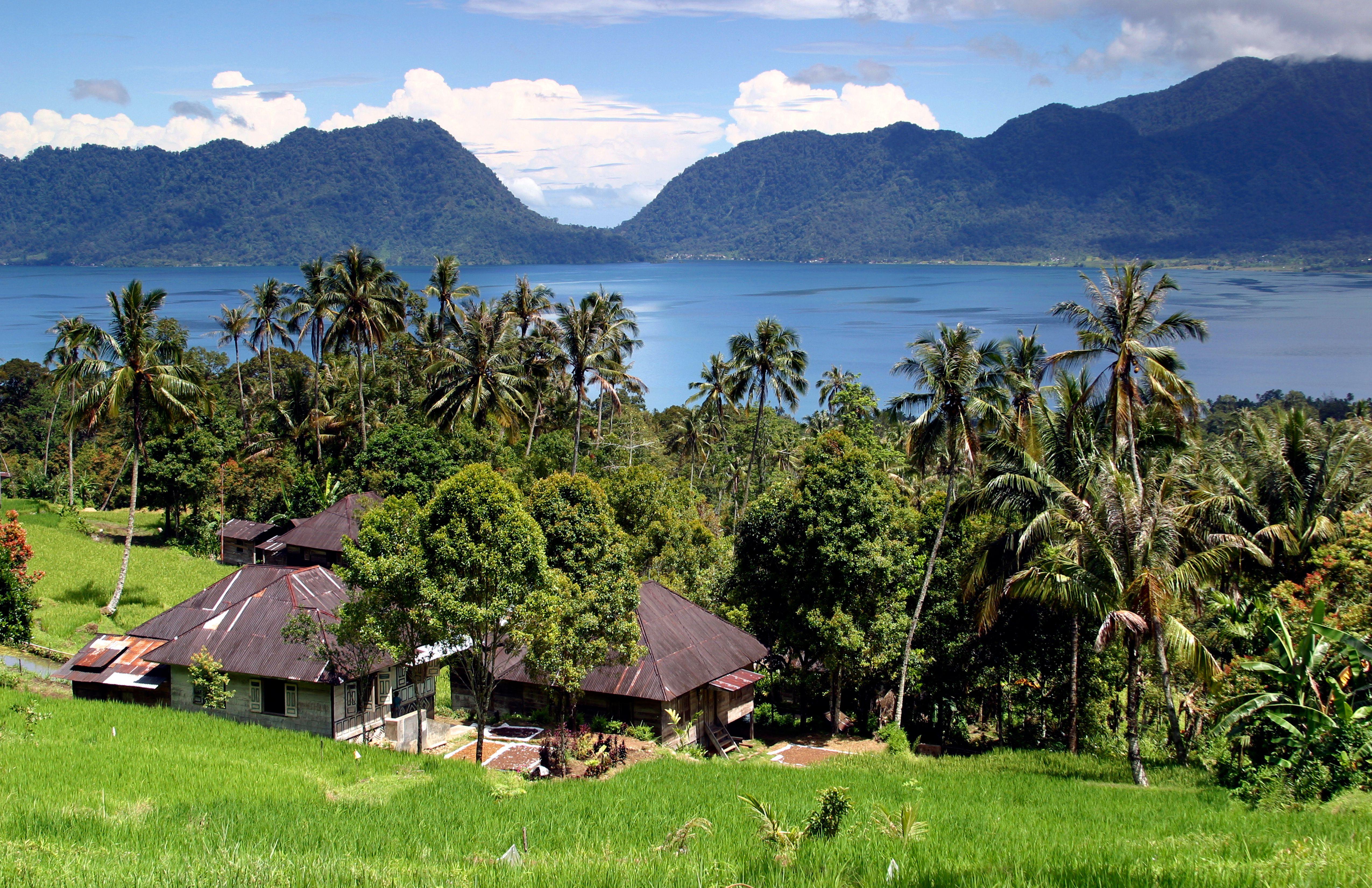 Lake Maninjau in West Sumatra
