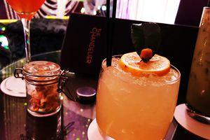 Chandelier Bar At Cosmopolitan Verbena Flower Drink