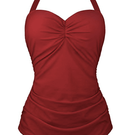 bb3076a5e4 Best Overall: Angerella Vintage 50s Pin-Up One Piece Swimsuit