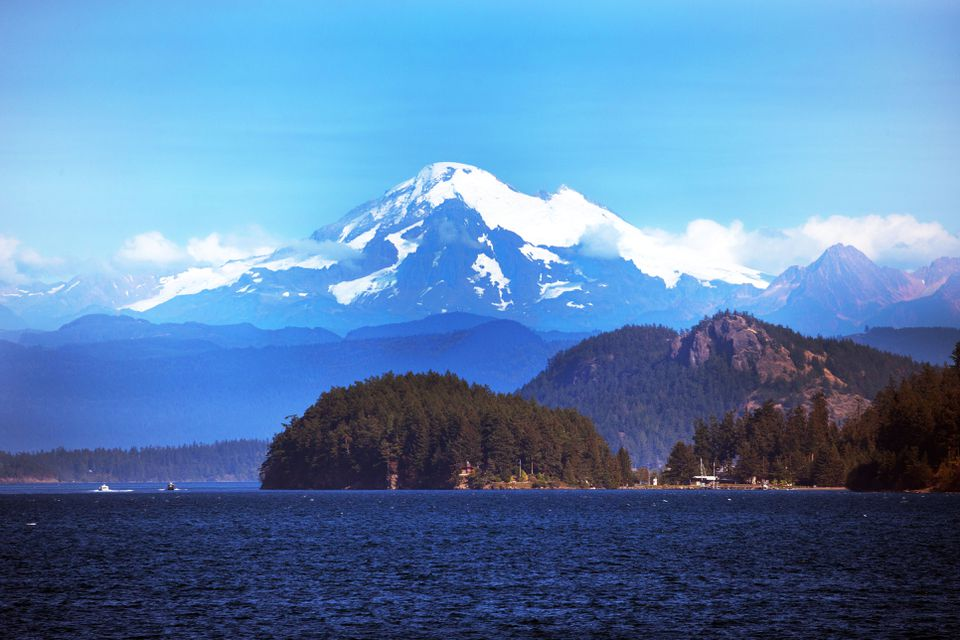 San Juan Island with Mt. Baker in the background