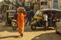 Auto rickshaw transport in Udaipur.