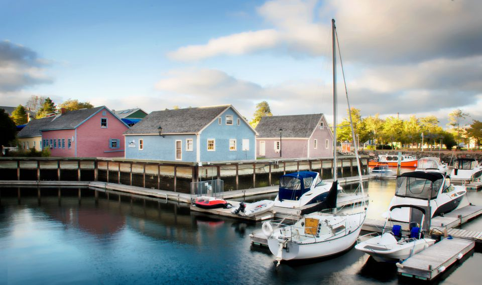 Charlottown Harbour in Prince Edward Island