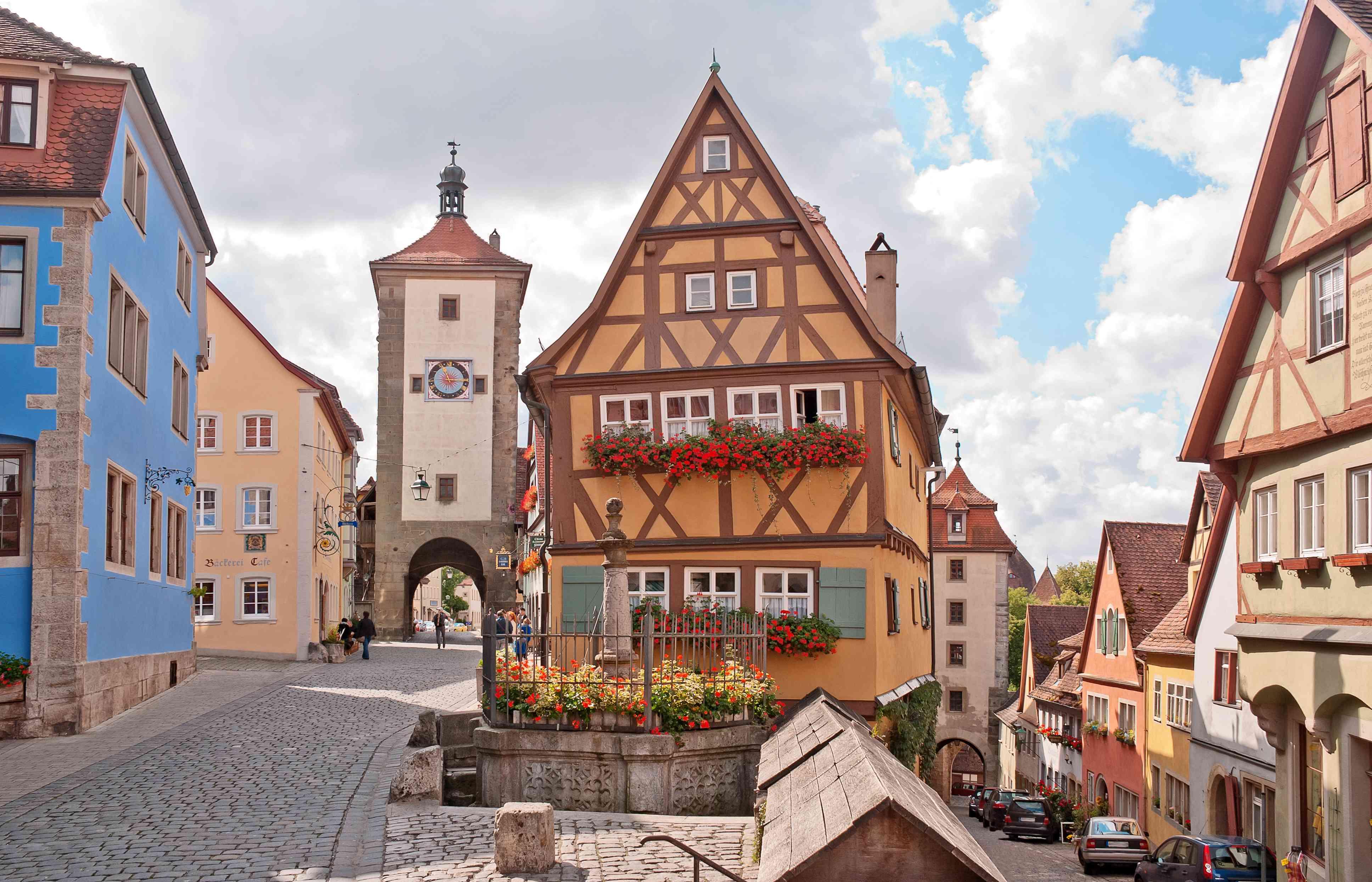 Das Plönlein in Rothenburg ob der Tauber