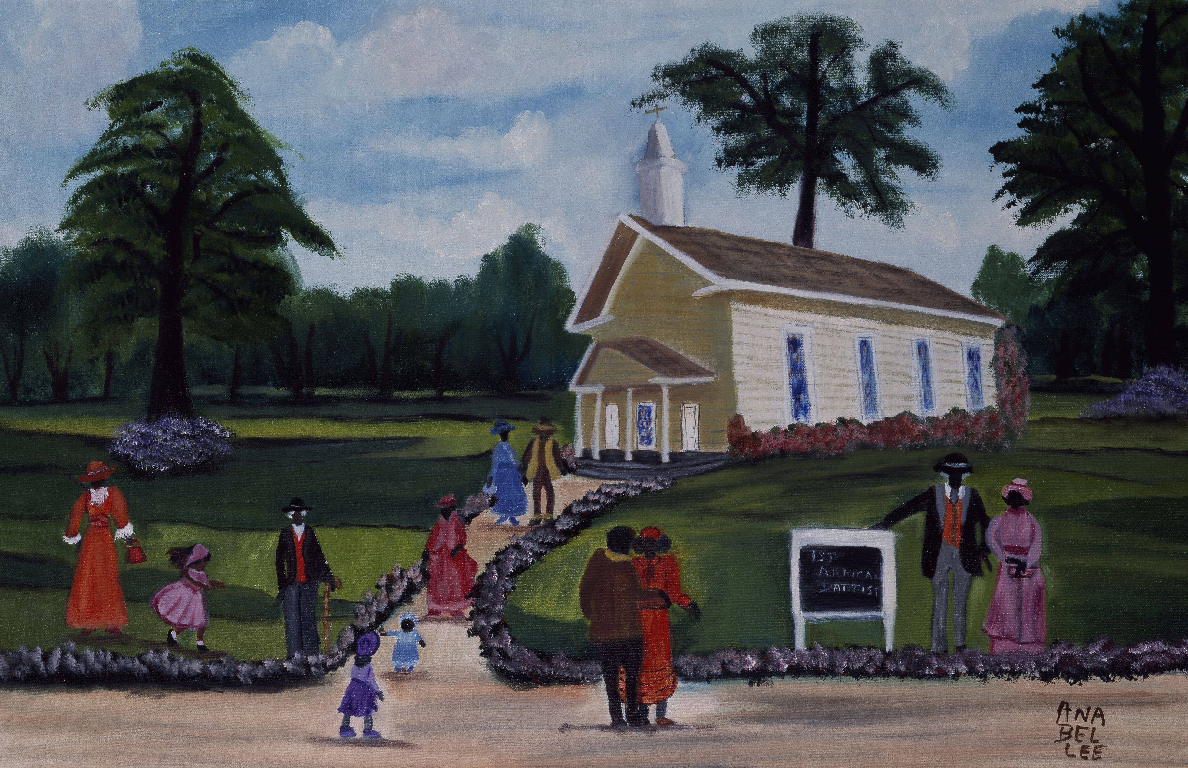 Yesteryear by Anna Belle Lee Washington, oil painting, 1993