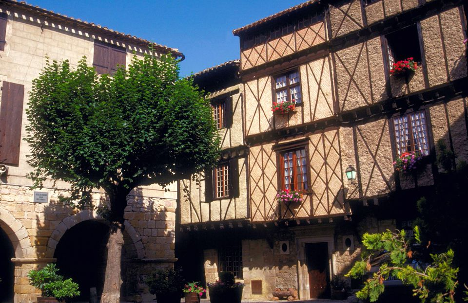 Half-timbered houses, Alet, France