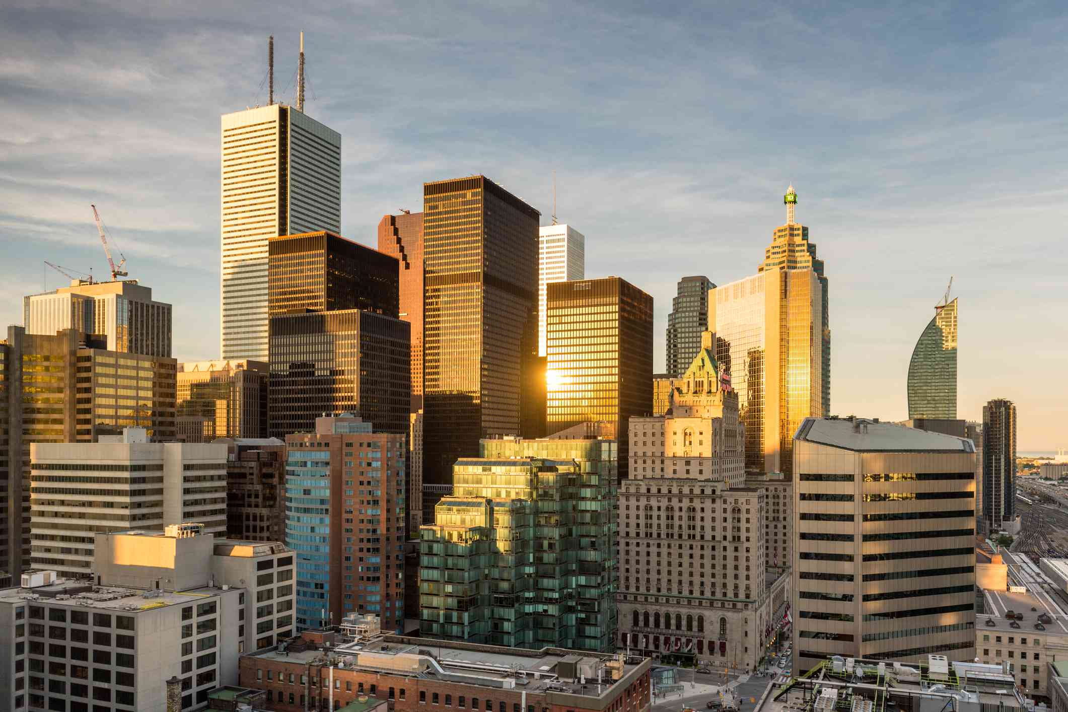 Cityscape of the financial district in Toronto, Ontario, Canada