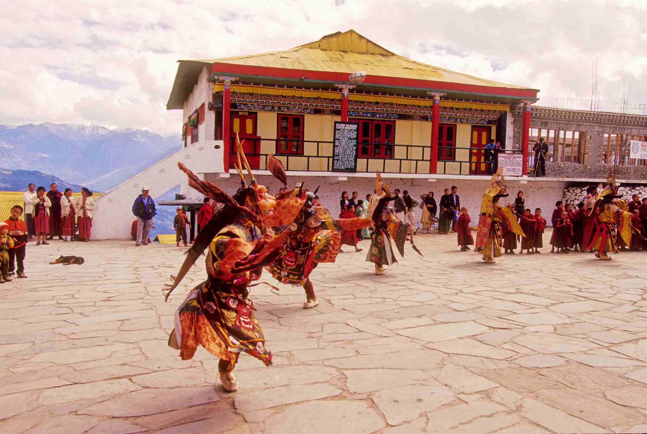 Masked Dance at Tawang Monastery, Arunachal Pradesh.