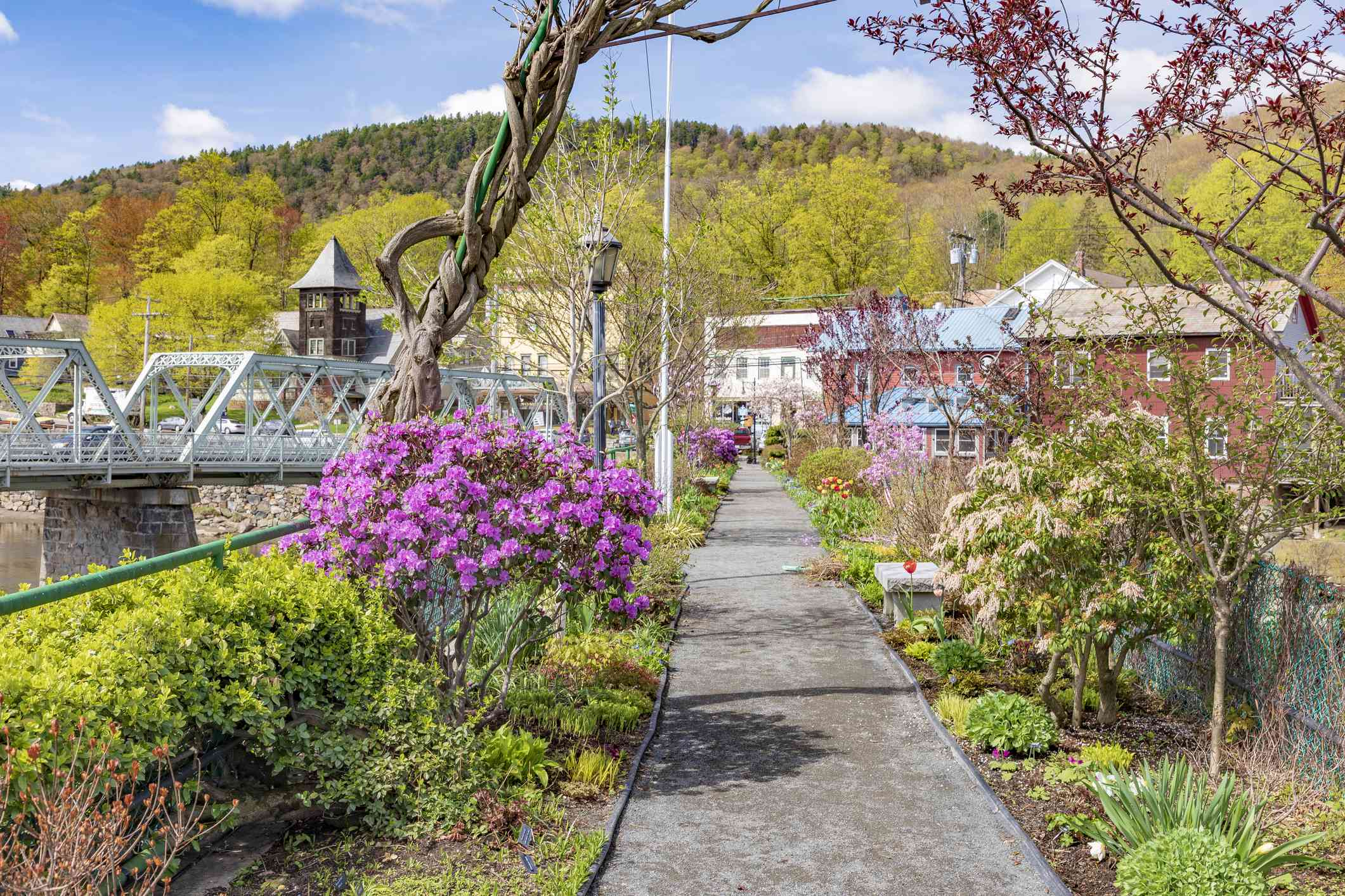 Massachusetts-Shelburne Falls-Bridge Of Flowers