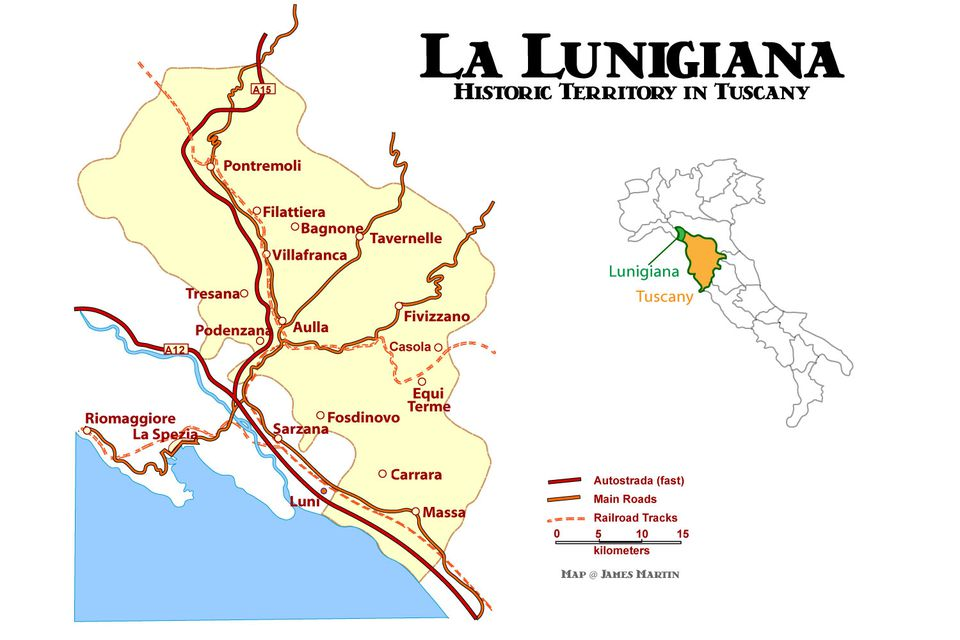 Lunigiana Map And Travel Guide