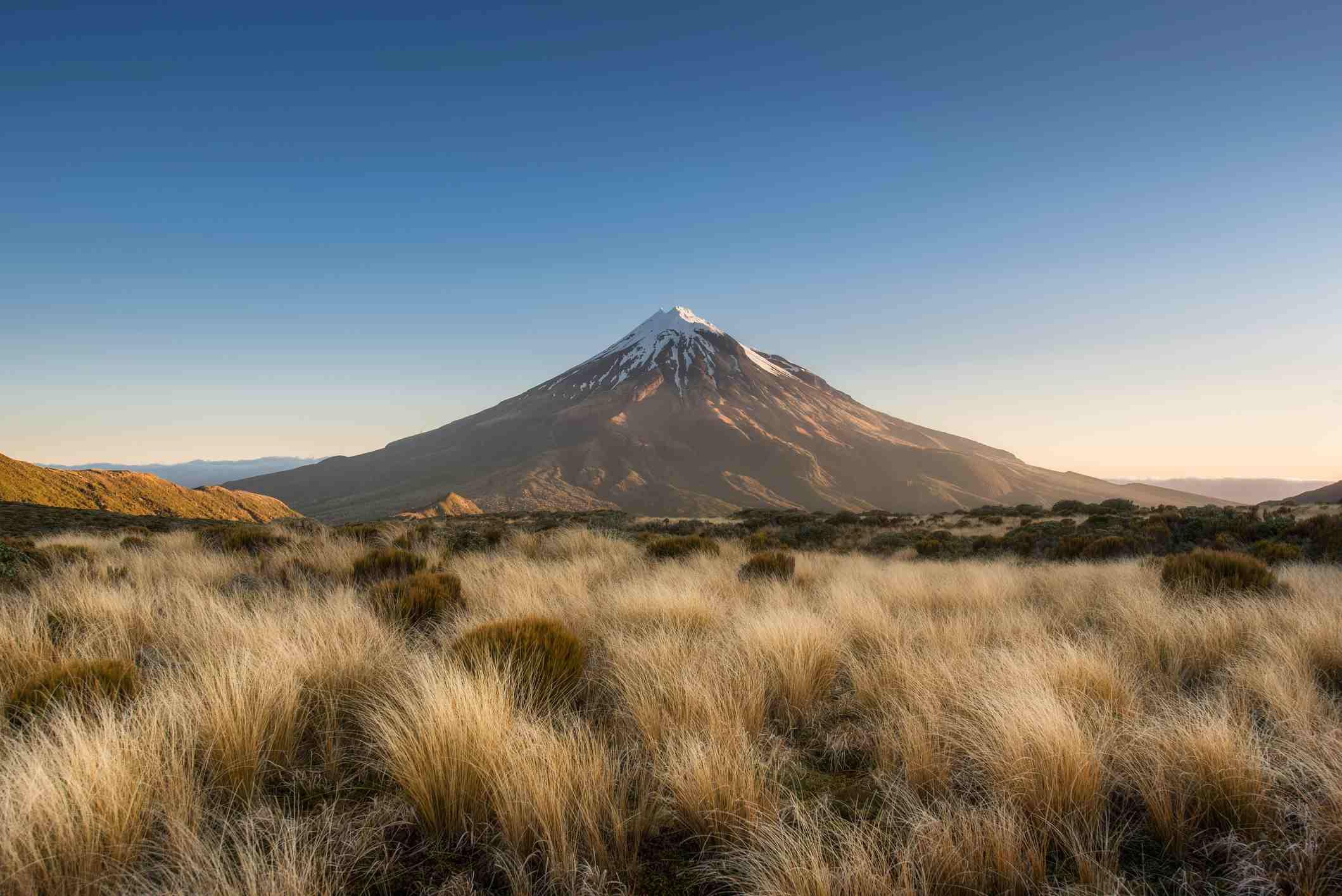 Mount Taranaki a dormant volcano in New Zealand