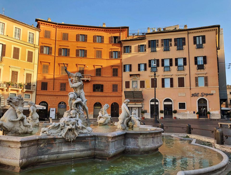 Piazza fountain