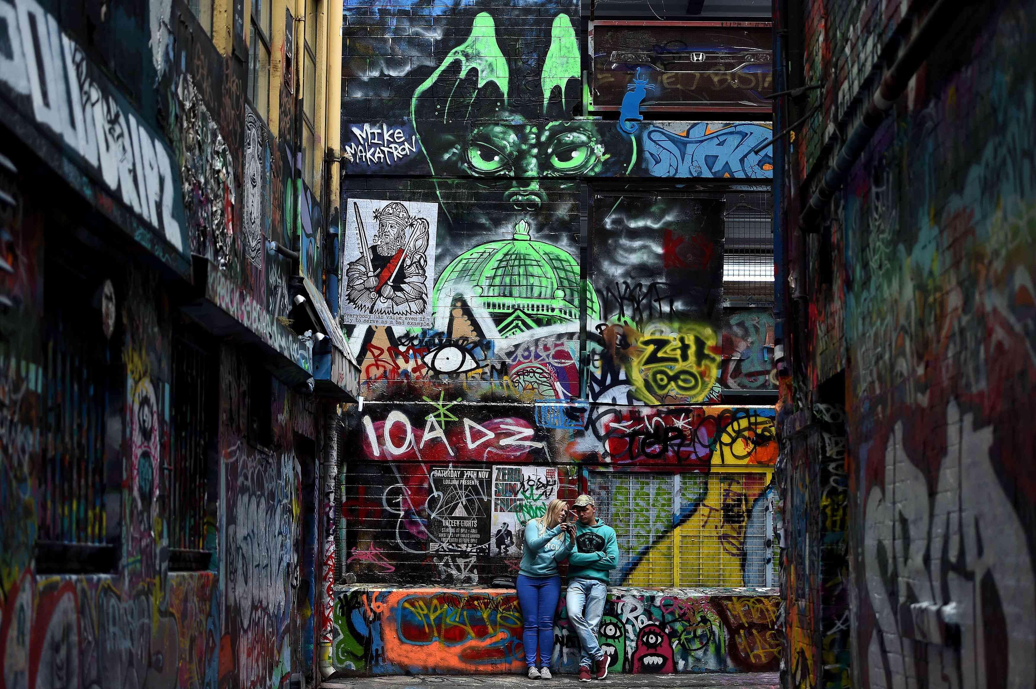 AUSTRALIA-ART-GRAFFITI