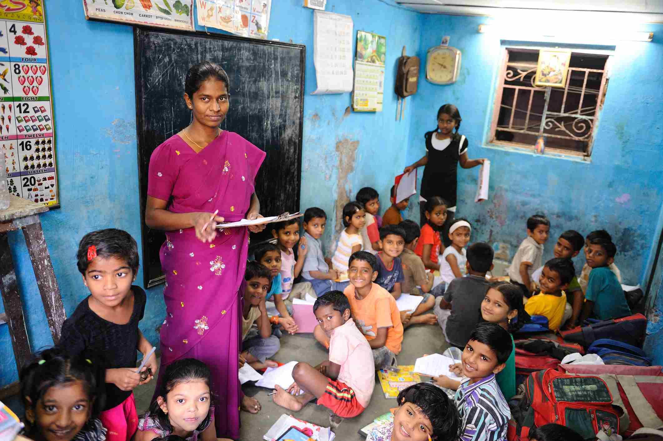 School in Dharavi.