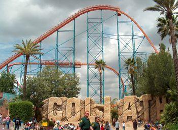 Goliath Coaster At Six Flags Magic Mountain